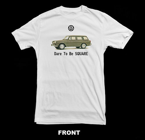 Volkswagen Vintage Squareback T Shirt | Dare To Be Square | VW T Shirt