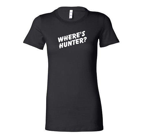 Where's Hunter? Ladies T-Shirt | Black Ladies T Shirt