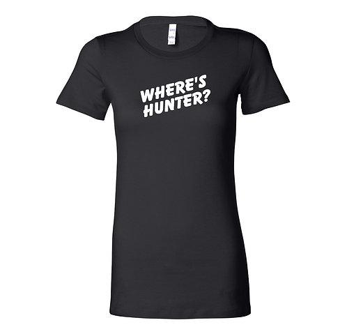 Where's Hunter? Ladies T-Shirt | Black Ladies T Shirt