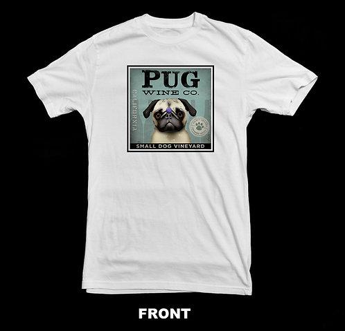 PUG WINE COMPANY T-SHIRT