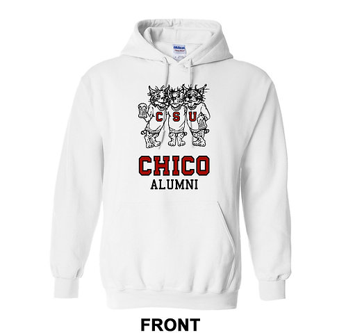 Chico State Alumni Sweatshirt Three Beer Drinking Wildcats Hoodie