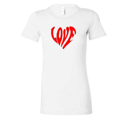 Love Text Art Valentine's Day T-Shirt