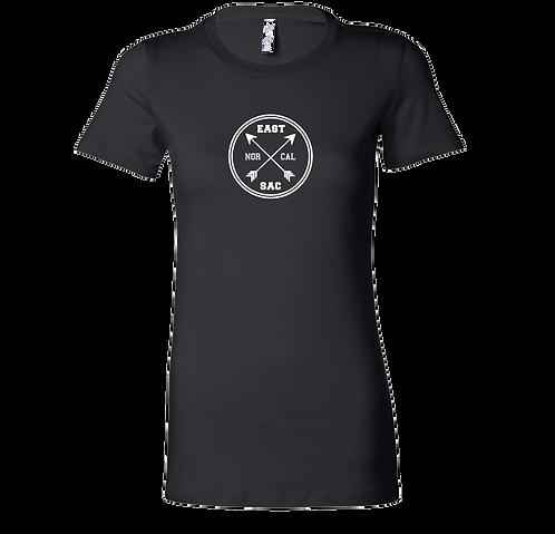 East Sac Cross Arrow T-Shirt | Black Ladies T Shirt
