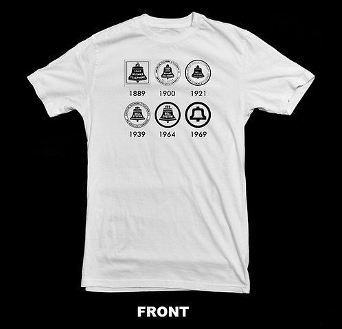 AT&T Vintage Telephone Logo Evolution T Shirt