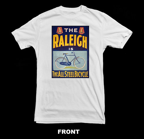 Raleigh Bicycle Vintage Advertisement T-Shirt | Vintage Bicycle T Shirts