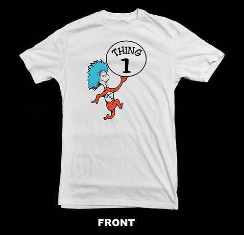 """CAT IN THE HAT -  DR. SEUSS INSPIRED """"THING 1"""""""