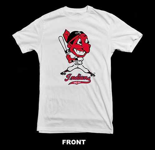 Cleveland Indians Vintage Logo T Shirt | 1946-1947 Chief Wahoo Logo