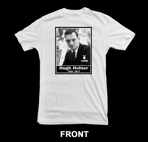Hugh Hefner Memorial T-Shirt #2 (Playboy Magazine)