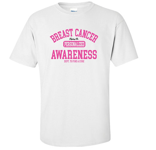Breast Cancer Awareness Personalized T-Shirt