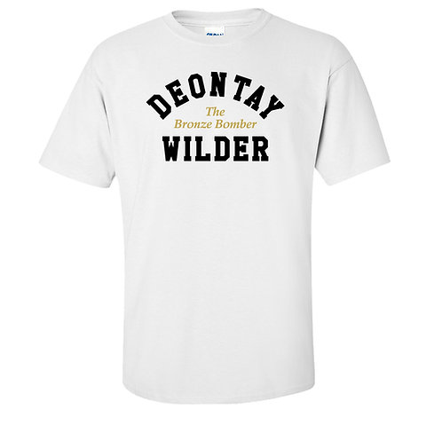 Deontay Wilder Heavyweight Boxer Bronze Bomber T Shirt