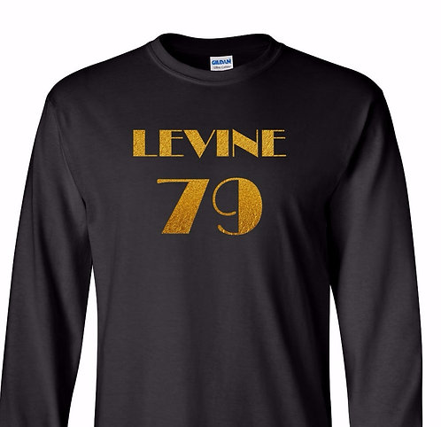 Adam Levine - 1979 (Long-Sleeve Black T-Shirt with Gold Foil Text) ~ NEW