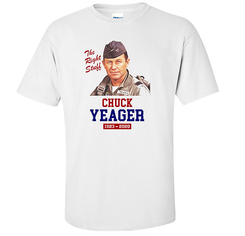 Chuck Yeager The Right Stuff American Hero Tribute T-Shirt