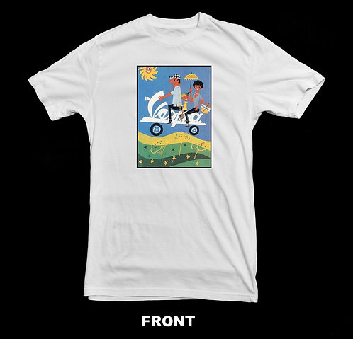 1960s VINTAGE VESPA SCOOTER ADVERTISEMENT T-SHIRT