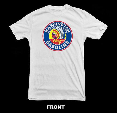 Chief Gasoline Vintage Logo White T Shirt