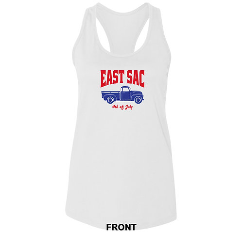 East Sac 4th of July Ladies Racerback Tank Top