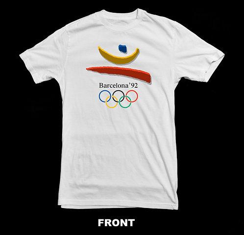 1992 BARCELONA SPAIN OLYMPIC LOGO (Summer Olympics) T-SHIRT