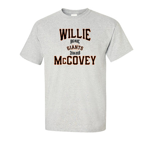 Willie McCovey, Big Mac Memorial T-Shirt - San Francisco Giants Legend