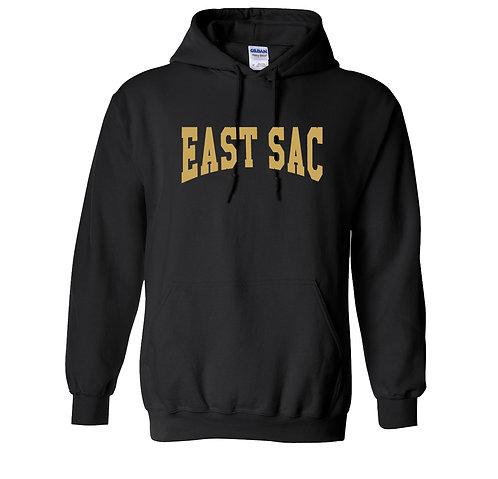 East Sac Premium Sweatshirt | Black With Gold Text