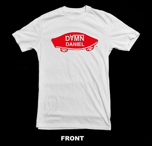 DAMN DANIEL  -  WHITE VANS FUNNY T-SHIRT