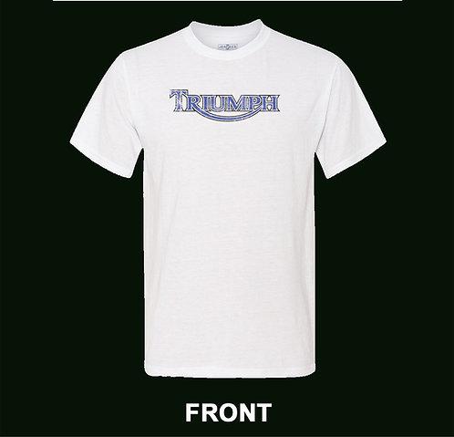 Triumph Motorcycle Vintage T Shirt   Distressed Logo