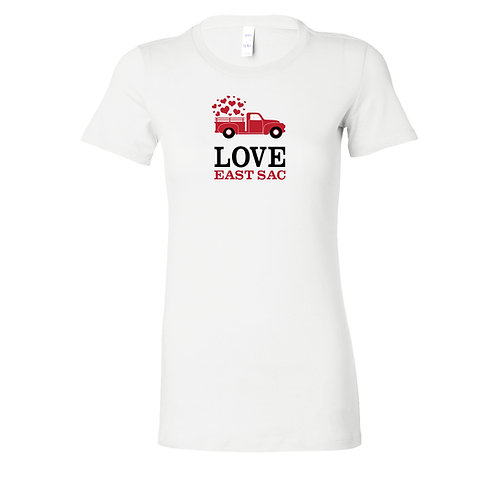 Love East Sac Valentines Day T-Shirt | Ladies and Unisex Styles