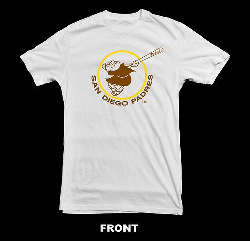 San Diego Padres Vintage Logo T Shirt   Vintage Baseball Shirts