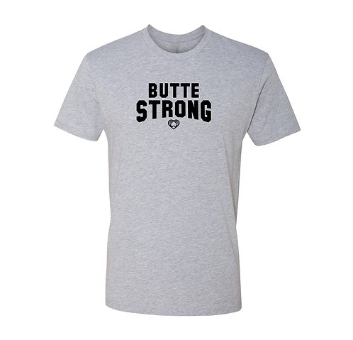 Butte Strong Athletic Gray T Shirt