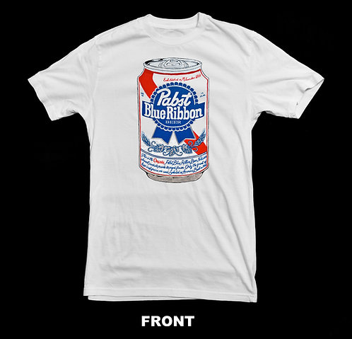 Pabst Blue Ribbon Vintage Beer Can T Shirt