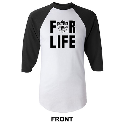 Oakland Raiders For Life Jersey T-Shirt