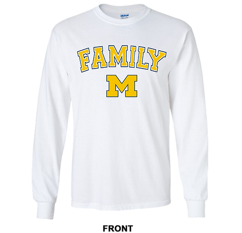 Michigan Wolverines Long Sleeve T Shirt | Family | March Madness