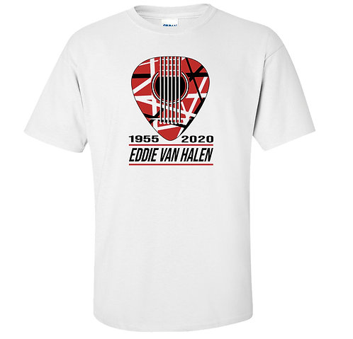 Eddie Van Halen Guitar Pick Tribute T-Shirt