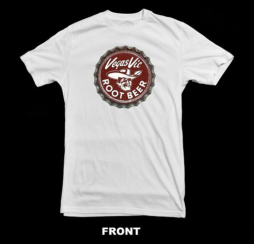 Vegas Vic Vintage Root Beer Soda Bottle Cap T Shirt