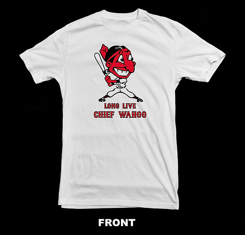 Long Live Chief Wahoo T Shirt   Cleveland Indians Vintage Logo