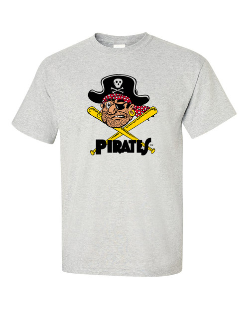 Retro vintage pittsburgh pirates t shirt custom t shirts for Custom t shirts sacramento