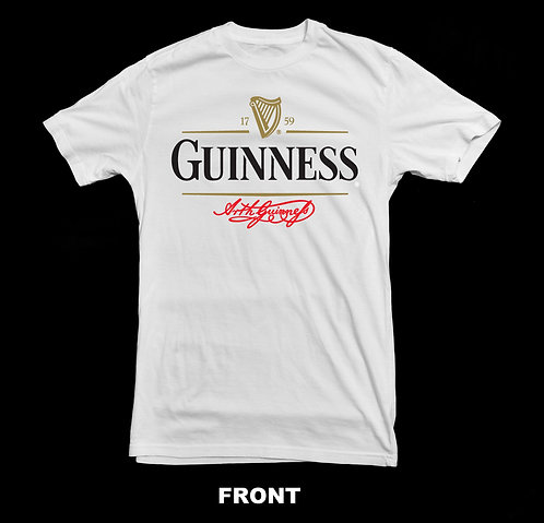 Guinness Beer Classic Logo T Shirt | Beer T Shirts