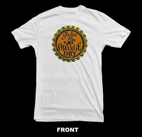 Felix The Cat Orange Soda Bottle Cap T Shirt | Vintage Soda T Shirt