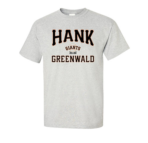 Hank Greenwald T-Shirt - San Francisco Giants Legendary Broadcaster