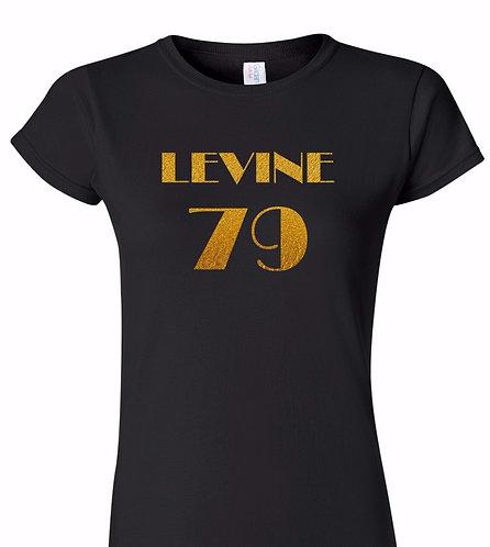 Adam Levine - 1979 (Ladies Black T-Shirt with Gold Foil Text)  ~ Various Sizes