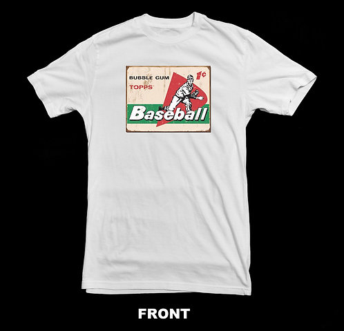 Topps Vintage Baseball Card T Shirt | Bubble Gum Card 1 Cent
