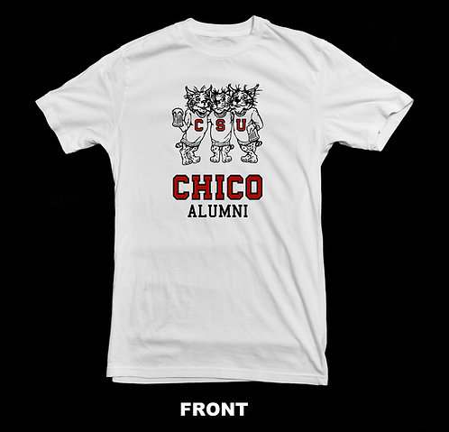 Chico State Alumni T-Shirt | Three Beer Drinking Wildcats Shirt
