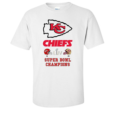 Kansas City Chiefs Super Bowl Champions T-Shirt KC