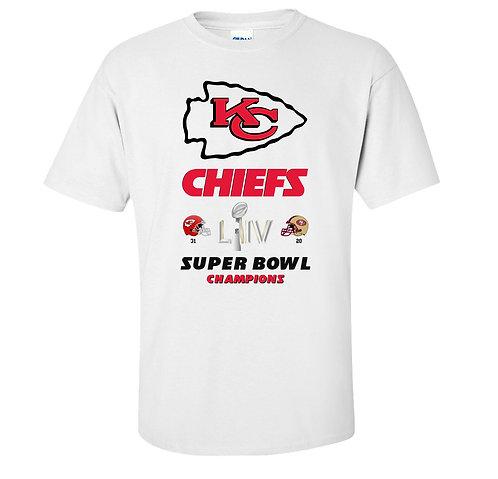 Kansas City Chiefs Super Bowl 54 Champions T-Shirt