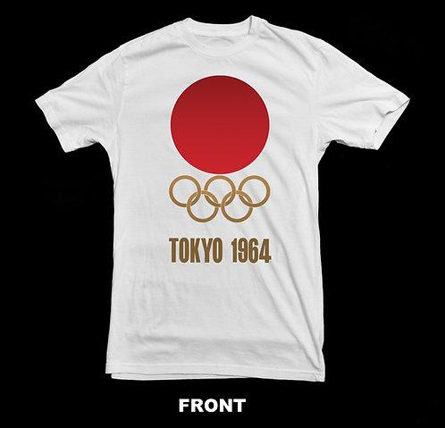 1964 TOKYO JAPAN OLYMPIC LOGO (Summer Olympics) T-SHIRT