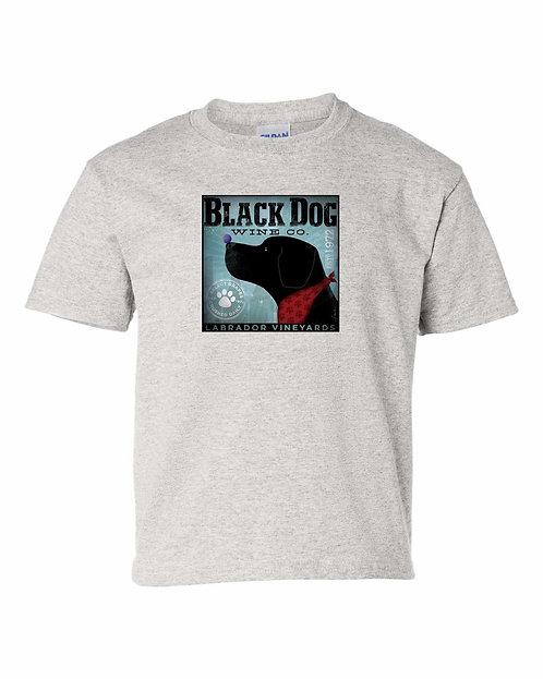 Black Dog Wine Company T-Shirt   Labrador Vineyards