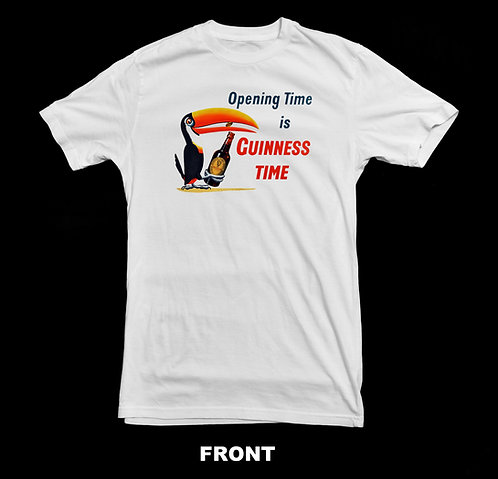 Guinness Beer Vintage Advertisement T Shirt | Opening Time