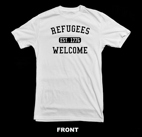 REFUGEES WELCOME (PRO-IMMIGRATION) T-SHIRT