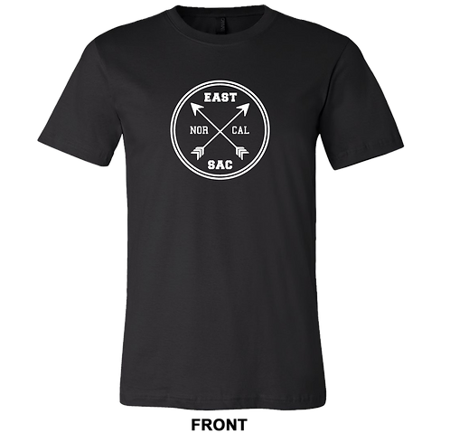 East Sac Cross Arrow T-Shirt | Black Unisex T Shirt​​​​​​​