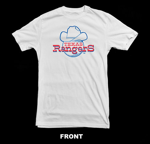 Texas Rangers Vintage Logo Baseball T Shirt