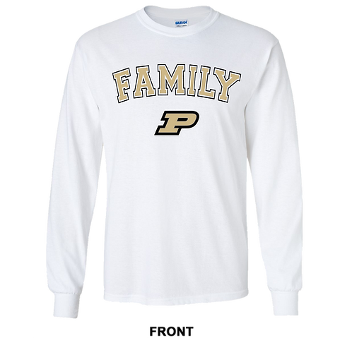 Purdue Boilermakers Long Sleeve T Shirt | Family | March Madness