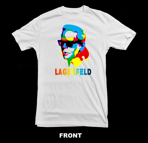Karl Lagerfeld T Shirt   Fashion Icon   Tribute T Shirt